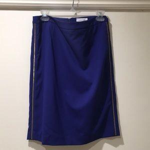 Calvin Klein pencil skirt w zippers on side
